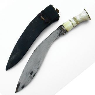KUKRI KNIFE with Bone hilt, in scabbard