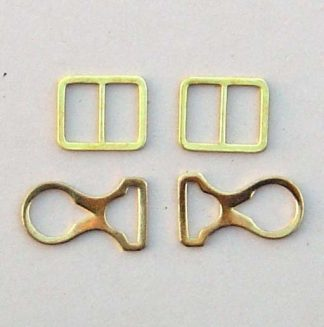 Picklhaube Chin Strap Mounts Only - Brass - Set of 4