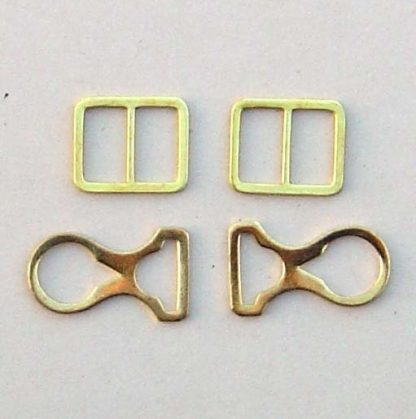 Picklhaube Chin Strap Mounts Only - Brass - Set of 4