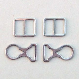 Pickelhaube Chin Strap Mounts Only - Nickel - Set of 4