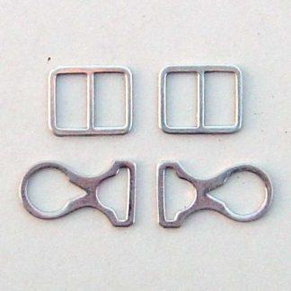 Pickelhaube Chin Strap Mounts Only - Nickel - Set of 4