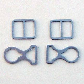 Pickelhaube Chin Strap Mounts Only - Steel - Set of 4