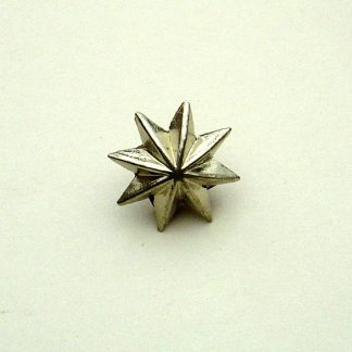 Pickelhaube Officers Helmet Star Rivets - Small - 15mm Nickel