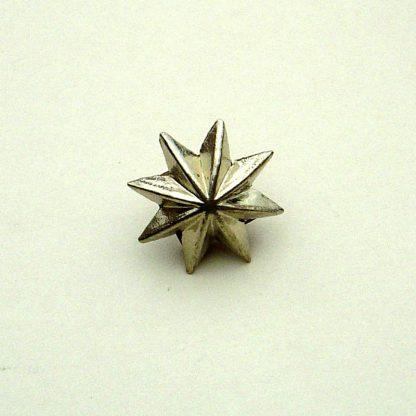 Pickelhaube Officers Helmet Star Rivets - Small - 15mm Nickel