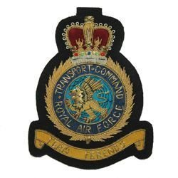 Blazer Badge RAF TRANSPORT COMMAND - QC