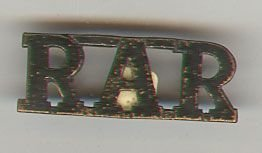 RAR Royal Australia Regiment black on gm st