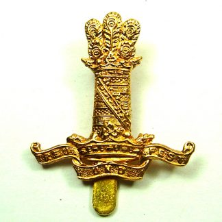 11th HUSSARS (PRINCE ALBERT'S OWN) OR's g/m cap badge 1898-1969 pattern (re-strike)