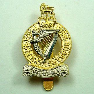 QUEENS ROYAL IRISH HUSSARS QC bi-metal cap badge re-strike