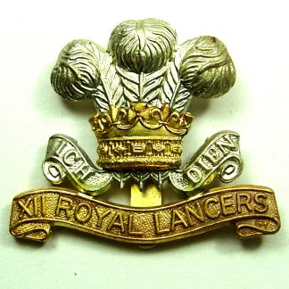 12th HUSSARS (PRINCE of WALES'S ROYAL) LANCERS -OR's bi/m cap badge 1898-1903 pattern (re-strike)