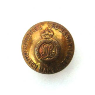 QUEEN MARY'S OWN SURREY YEOMANRY OR's 24 mm gilding metal button