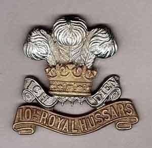 10th ROYAL HUSSARS - bi/m cap badge