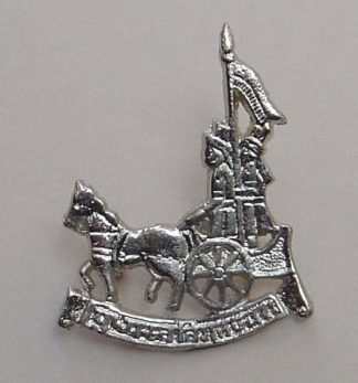 1104 R.E.G.P. (T.A.) nickle plated cap badge