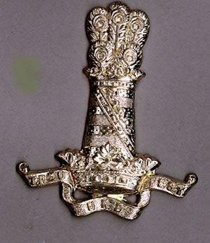 11th HUSSARS - N. C. O.'s g/m Sleeve badge
