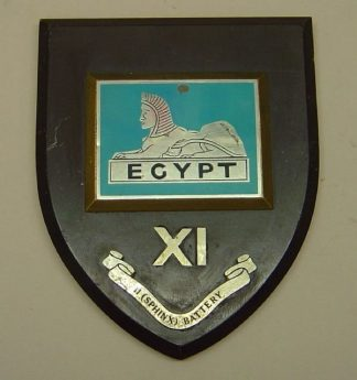 11TH SPHINX BATTERY R.A. wall plaque