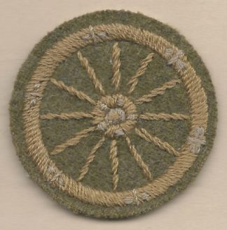12 SPOKE WHEEL - WHEELWRIGHT embroidered wool worsted sleeve badge
