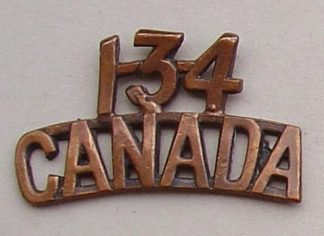 134 CANADA C.E.F. bz shoulder title