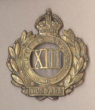 13th HUSSARS KC gilding-metal 1902-22 Field Servic