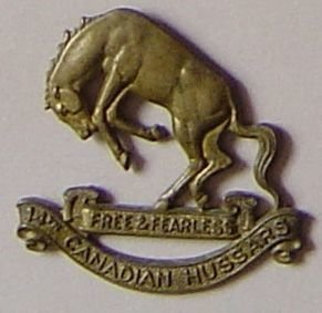 14th CANADIAN HUSSARS g/m OR.s cap badge
