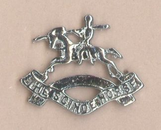 14th THE SCINDE HORSE nickel plated cap badge