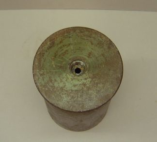 15.5 cm GERMAN FIELD HOWITZER steel fired case  marked 'aue' '42 SFH-18 primer pocket emty