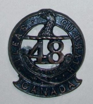 15th BATTALION C.E.F. DILEAS GU BRATH bz Collar pr