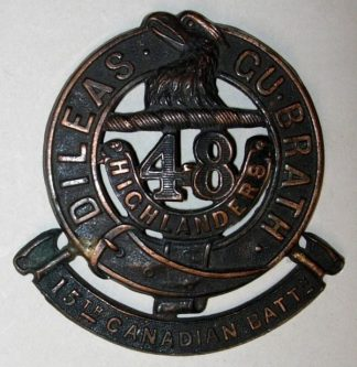 15th BATTALION C.E.F. DILEAS GU BRATH dk bz Glenga