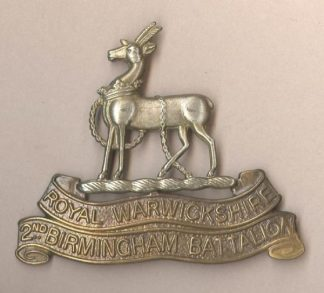 15th BATTALION, ROYAL WARWICKSHIRE REGIMENT (2nd BIRMINGHAM PALS)