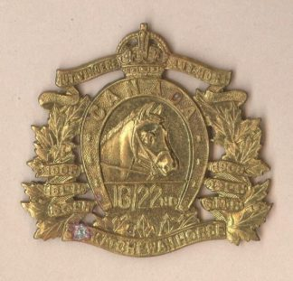 16th/22nd SASKATCHEWAN HORSE KC g/m or collars pr.