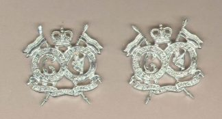 16th/5th LANCERS QC anodised collar dogs, pair
