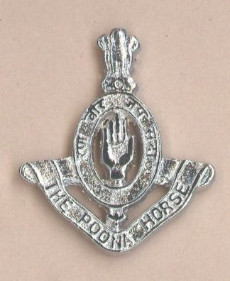17th POONA HORSE nickel plate cap badge