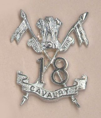18th CAVALRY OR's cap badge