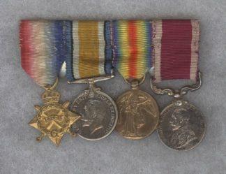 1914/15 Star, BWM, Victory, GV Army LS & GC (4)