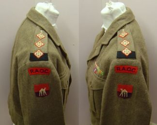 1949 Pattern Battledress Top, Badged. RAOC Capt.