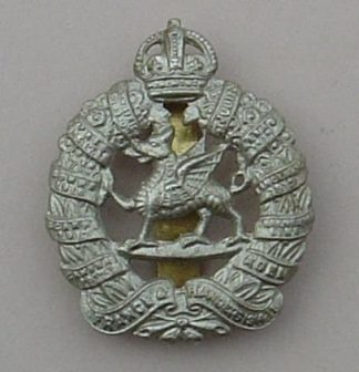 1st MONMOUTHSHIRE BATTALLION or's cap badge w/m
