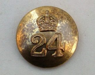 24th PUNJABIS KC 25mm OFFICERS TUNIC BUTTON