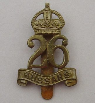 26th HUSSARS OR's cap badge g/m