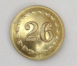 26th of FOOT 25mm OFFICERS GILT TUNIC BUTTON
