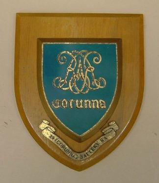 29 (CORUNNA) BATTERY RA wall plaque