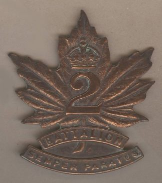 2nd BATTALION 'SEMPER FIDELIS'  bronzed copper
