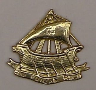 2nd PUNJAB REGIMENT cast brass cap badge