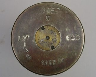 3.45in II EEC 1937 fired brass case