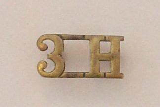3.H - 3rd Hussars brass s/t