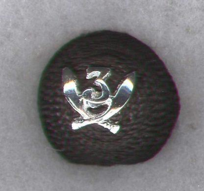 3rd GURKHA RIFLES Officer's 'Cherry' cap badge - India post 1947