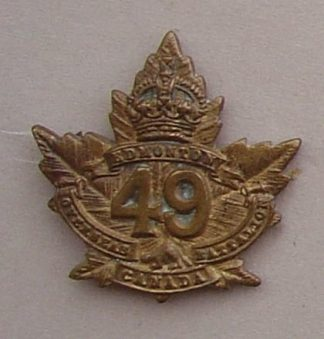 49th EDMONTON OVERSEAS BATTALION collar - pickled