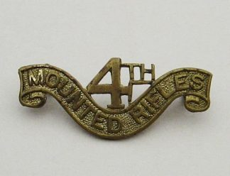 SOUTH AFRICA 4th MOUNTED RIFLES g/m shoulder title
