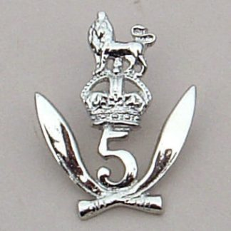 5 th GURKHA RIFLES (Frontier Force) O'R's nickel die-struck cap badge (re-strike)