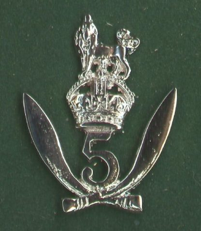 5th GURKHA RIFLES - large nickel plated OR's c/b