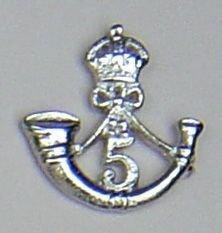 5th MARATHA LIGHT INFANTRY nickle plate cap badge