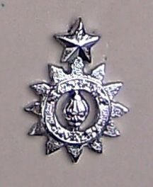 62nd CAVALRY nickel plated cap badge