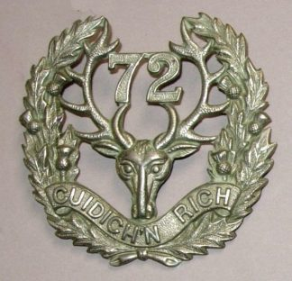 72nd INFANTRY BATTN. C.E.F. SEAFORTH HIGHLANDERS